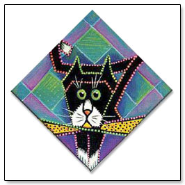 The original Origami the Cat painting
